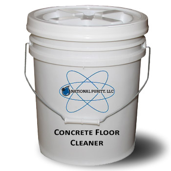 Concrete floor cleaner garflor national purity for Concrete floor degreaser